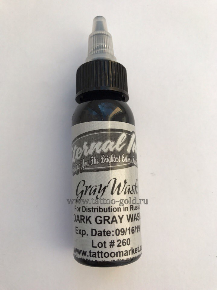 картинка Eternal Dark Gray Wash 1oz(30ml) от магазина тату+